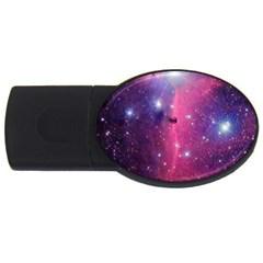 Galaxy Purple 2gb Usb Flash Drive (oval) by SonderSkySecond