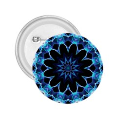 Crystal Star, Abstract Glowing Blue Mandala 2 25  Button by DianeClancy