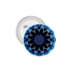 Crystal Star, Abstract Glowing Blue Mandala 1 75  Button by DianeClancy
