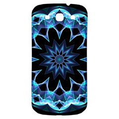 Crystal Star, Abstract Glowing Blue Mandala Samsung Galaxy S3 S Iii Classic Hardshell Back Case by DianeClancy