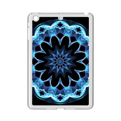 Crystal Star, Abstract Glowing Blue Mandala Apple Ipad Mini 2 Case (white)
