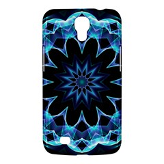 Crystal Star, Abstract Glowing Blue Mandala Samsung Galaxy Mega 6 3  I9200 Hardshell Case by DianeClancy