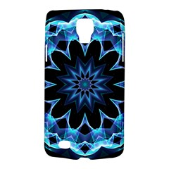 Crystal Star, Abstract Glowing Blue Mandala Samsung Galaxy S4 Active (i9295) Hardshell Case by DianeClancy
