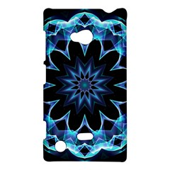 Crystal Star, Abstract Glowing Blue Mandala Nokia Lumia 720 Hardshell Case by DianeClancy
