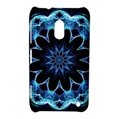Crystal Star, Abstract Glowing Blue Mandala Nokia Lumia 620 Hardshell Case by DianeClancy