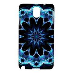 Crystal Star, Abstract Glowing Blue Mandala Samsung Galaxy Note 3 N9005 Hardshell Case by DianeClancy