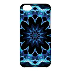 Crystal Star, Abstract Glowing Blue Mandala Apple Iphone 5c Hardshell Case by DianeClancy