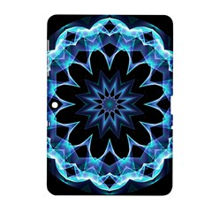 Crystal Star, Abstract Glowing Blue Mandala Samsung Galaxy Tab 2 (10 1 ) P5100 Hardshell Case  by DianeClancy