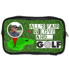 Golfer s Toiletries Bag By Joy Johns   Toiletries Bag (two Sides)   5bvn10of03ow   Www Artscow Com Front