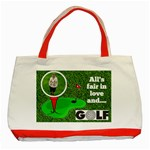 Lady golfer s tote bag - Classic Tote Bag (Red)