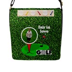 lady golfer s flap closure large messenger bag - Flap Closure Messenger Bag (L)