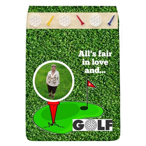 Lady Golfer s Removable Flap Cover By Joy Johns   Removable Flap Cover (l)   Lekskus8lg4m   Www Artscow Com Front