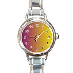 Tainted  Round Italian Charm Watch by Colorfulart23
