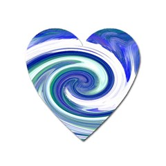 Abstract Waves Magnet (heart) by Colorfulart23