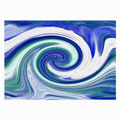 Abstract Waves Glasses Cloth (large) by Colorfulart23