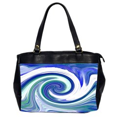 Abstract Waves Oversize Office Handbag (two Sides) by Colorfulart23