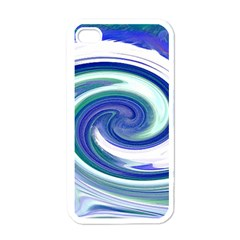 Abstract Waves Apple Iphone 4 Case (white) by Colorfulart23