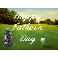 Golf Single Heart Father s Day Card By Kim Blair   Heart Bottom 3d Greeting Card (7x5)   U9q37lxrntpv   Www Artscow Com Front