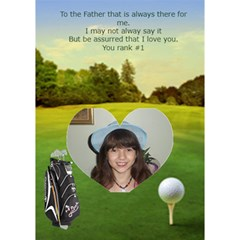 Golf Single Heart Father s Day Card By Kim Blair   Heart Bottom 3d Greeting Card (7x5)   U9q37lxrntpv   Www Artscow Com Inside