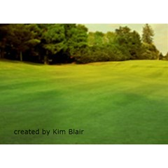 Golf Single Heart Father s Day Card By Kim Blair   Heart Bottom 3d Greeting Card (7x5)   U9q37lxrntpv   Www Artscow Com Back
