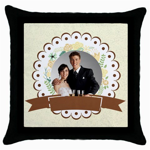 Wedding By Paula Green   Throw Pillow Case (black)   Ikdhblrzz9x2   Www Artscow Com Front