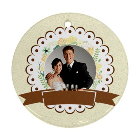 Wedding By Paula Green   Ornament (round)   L422jiz2cs81   Www Artscow Com Front
