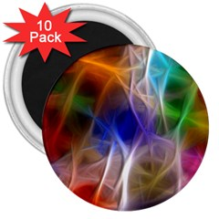 Fractal Fantasy 3  Button Magnet (10 Pack) by StuffOrSomething