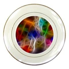 Fractal Fantasy Porcelain Display Plate by StuffOrSomething