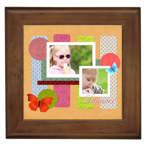 Kids By Joely   Framed Tile   W8b9h9g6sa0y   Www Artscow Com Front