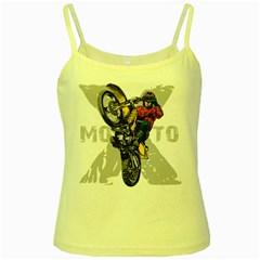 Moto X Wheelie Yellow Spaghetti Tank by MegaSportsFan