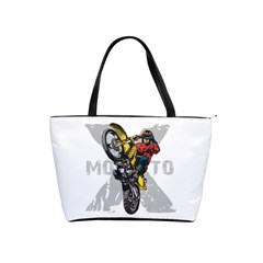 Moto X Wheelie Classic Shoulder Handbag by MegaSportsFan