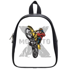 Moto X Wheelie School Bag (small) by MegaSportsFan