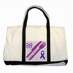 Send Spoons Two Toned Tote Bag by FunWithFibro