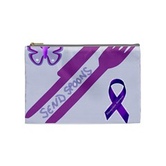 Send Spoons Cosmetic Bag (medium) by FunWithFibro