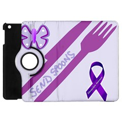 Send Spoons Apple Ipad Mini Flip 360 Case by FunWithFibro