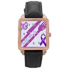 Send Spoons Rose Gold Leather Watch  by FunWithFibro
