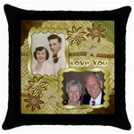 dadmompillow - Throw Pillow Case (Black)