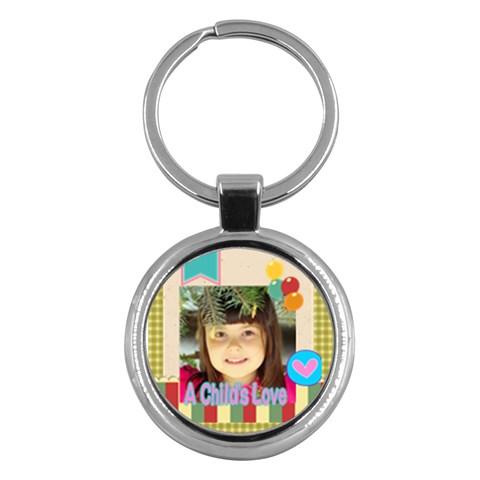 Kids By Kids   Key Chain (round)   E7dy3lhiga2o   Www Artscow Com Front