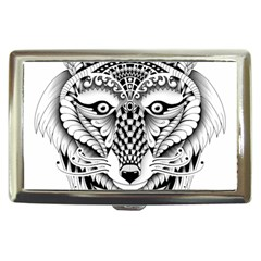 Ornate Foxy Wolf Cigarette Money Case by Zandiepants