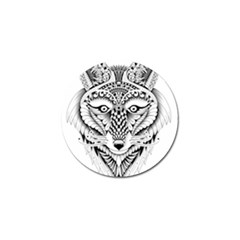 Ornate Foxy Wolf Golf Ball Marker 4 Pack by Zandiepants