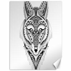 Ornate Foxy Wolf Canvas 36  X 48  (unframed) by Zandiepants