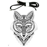 Ornate Foxy Wolf Shoulder Sling Bag Front