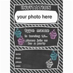 Birthday invitation card 7x5 - 5  x 7  Photo Cards