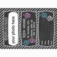 Birthday Invitation Card 7x5 By Zornitza   5  X 7  Photo Cards   Lj6a5xjk3ngj   Www Artscow Com 7 x5 Photo Card - 3