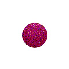 Polka Dot Sparkley Jewels 1 1  Mini Button by MedusArt