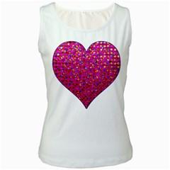 Polka Dot Sparkley Jewels 1 Women s Tank Top (white) by MedusArt