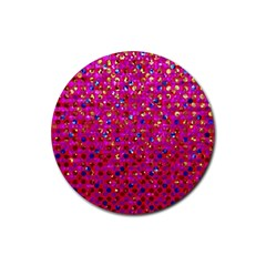 Polka Dot Sparkley Jewels 1 Drink Coasters 4 Pack (round) by MedusArt