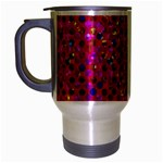 Polka Dot Sparkley Jewels 1 Travel Mug (Silver Gray) Left