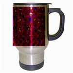 Polka Dot Sparkley Jewels 1 Travel Mug (Silver Gray) Right