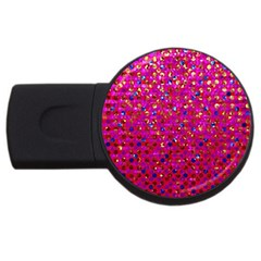 Polka Dot Sparkley Jewels 1 4gb Usb Flash Drive (round) by MedusArt